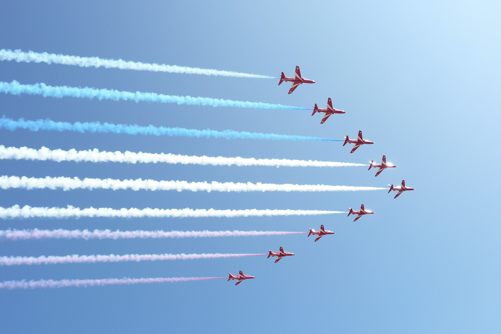 Red Arrows at Goodwood Festival of Speed 2009